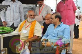 Stylish Working Stills Of Om Namo Venkatesaya Telugu Movie