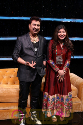 Kumar Sanu & Alka Yagnik At Semi Finale Of The Voice India Season 2 Stills