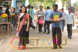 Nisabdham Movie Shooting Spot Beautiful Stills Tamil Gallery