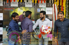 NTR And Koratala Shiva With Janatha Garage Bike Winner Telugu Gallery