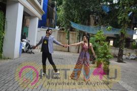 Shraddha Kapoor & Rajkummar Rao At Maddock Films Office For The Promotions Of Film Stree Photos