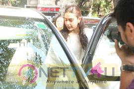 Sara Ali Khan Spotted At Kitchen Garden, Bandra Party Photos Hindi Gallery