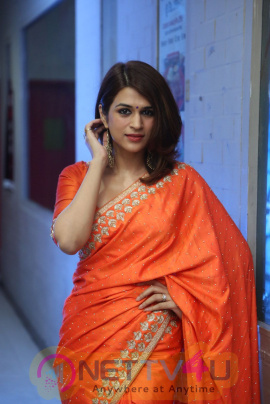 Actress Shraddha Das At PSV Garuda Vega Success Meet Stills Telugu Gallery