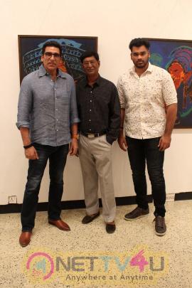 Pooja Bedi Inaugurate Veteran Artist Padmanabh Bendre Art Show Cute Stills