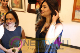 Sushmita Sen Inaugurates Master Painter The Late John Fernandes Art Show Artful Pics