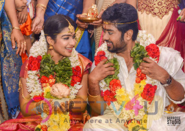 Actress Satna Titus & Karthik Marriage Stills