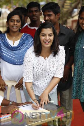 Actress Varalakshmi Sarathkumar's Save Shakti Campaign Event Stills Tamil Gallery