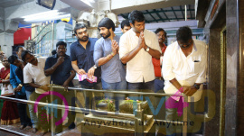 Photos Of Vishal's Namma Anniyinar Team Went To Vadapalani Temple & Got Blessings Of Lord Murugan
