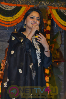 Actress Anushka Shetty Lovely Pics At Om Namo Venkatesaya Audio Launch