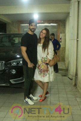 Angad Bedi And Neha Dhupia  Spotted At  Bandra Stills