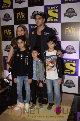 Screening Of Jurassic World In PVR Icon Andheri Images
