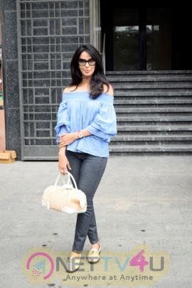Mallika Sherawat Went To Indigo Delicatessen Restaurant Images Hindi Gallery