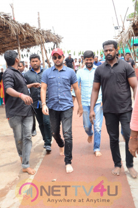 Srinivasa Kalyanam Movie Team At Vijayawada Kanaka Durga Temple Pics