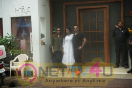Vatsal Seth ,Ishita Dutta, Tanushree Dutta Spotted Outside +91 At Juhu Stills Hindi Gallery