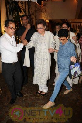 Stills Of Shilpa Shetty, Raveena Tandon Together At Anil Kapoor's House Celebrating Karwa Chauth Hindi Gallery