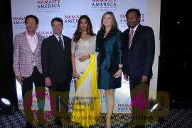 Esha Gupta At Press Meet Of Namaste America Pics