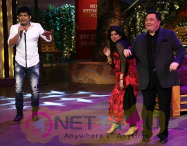 Rishi Kapoor & Neetu Singh On Set Of The Kapil Sharma Show