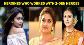 Tamil Heroines Who Worked With Two-Generation Heroes Of The Same Family