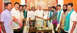 Cauvery Rights Rescue Action Coordination Committee Met Governor Panwarilal Purohit  Tamil Gallery