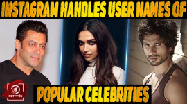 Top 10 Instagram Handles (user Names) Of Popular Celebrities.