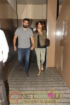 Actress Shilpa Shetty And Her Husband Raj Kundra Spotted At Juhu PVR Photos Hindi Gallery