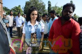 London Babulu Movie Team At AVN College Vizag  Pics Telugu Gallery