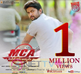 MCA Movie Teaser 1 Million Views Poster r Telugu Gallery