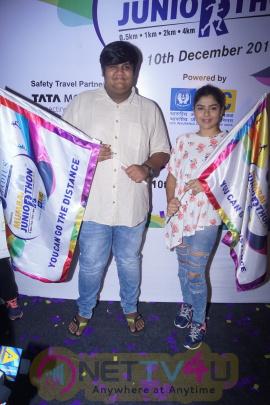 Dipannita Sharma, Claudia Ciesla, Tapu Sena Of Tarak Mehta, At Mumbai Juniorthon An Annual Running Event For Kids Pics
