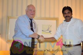 Pawan Kalyan Meet To Prof Steve Pretty Photos