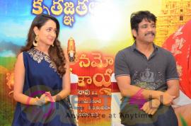 Stunning Stills Of Om Namo Venkatasaya Movie Press Meet