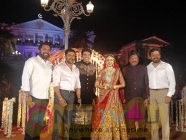 Actor Arya And Sayesha Saigal Marriage Stills
