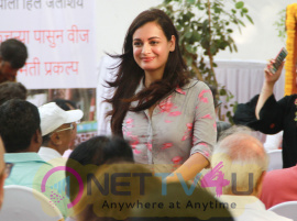 Dia Mirza At BMC Bio Gas In Pali Hill