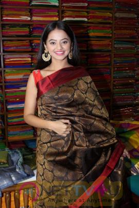 Helly Shah At Store Launch Of Sundari Silks Attractive Pics Hindi Gallery