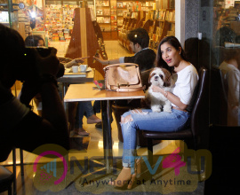 Sophie Chowdhary spotted at cafe D Bella bandra