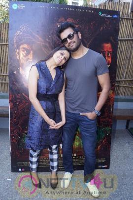 Interview With Sharad Kelkar & Sai Tamhankar For Marathi Film Raakshas Stills