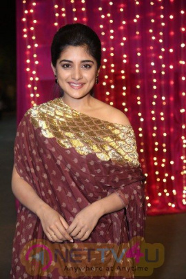 Actress Niveda Thomas Stunning In Maron Outfit  Telugu Gallery