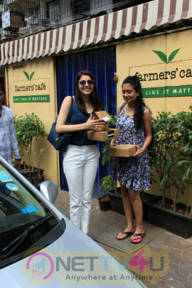 Actress Kajal Aggarwal Spotted At Farmers Cafe Images
