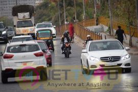 Harshvardhan Kapoor With Taapsee Pannu Riding Bike Promotion Stills Hindi Gallery