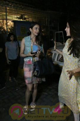 Rakulprit And Riya Chakravarti Spotted At Bandra Cutest Images