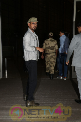 Actor Irrfan Khan Spotted At Airport Stills