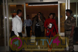 Stills Of  Deepika Padukone Spotted At The Mumbai International Airport