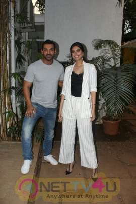 John Abraham & Diana Penty Spotted At John's Office Stunning Images
