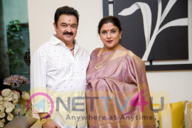 Actress Sripriya With Her Husband Rajkumar Pics