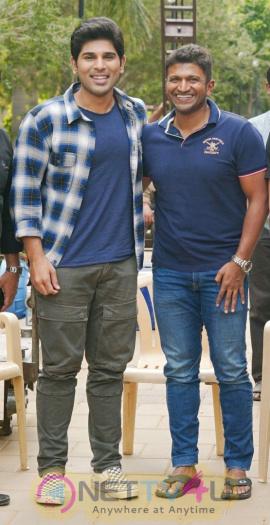 Kannada Superstar Puneeth Rajkumar Visits Allu Sirish Okka Kshanam Stills