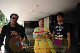 Photos Of Govinda Celebrates Holi With His Family