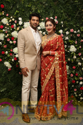 Actor Arya - Sayyeshaa Reception Photos