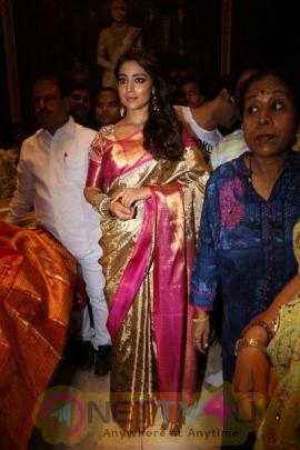Shriya Launches VRK Silks At Himatnagar Grand Pics