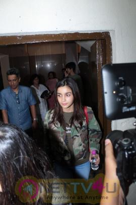Stills Of Alia Bhatt Spotted At Juhu PVR Hindi Gallery