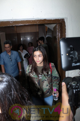 Stills Of Alia Bhatt Spotted At Juhu PVR Hindi Gallery