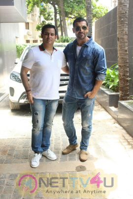 John Abraham At Ajay Kapoor's Office Inauguration In Juhu Images